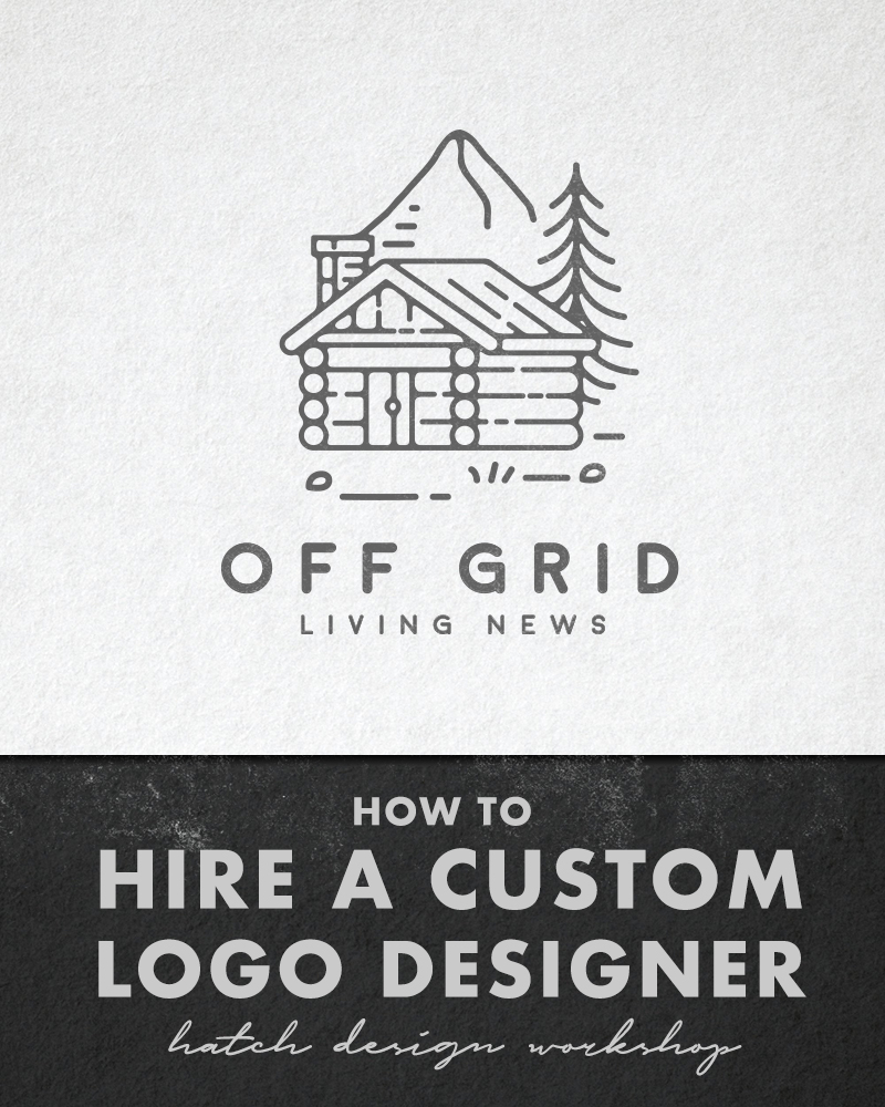 Custom Youtube Channel Design: Off Grid Living News Logo Case Study: Ordering A Custom
